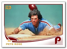 2013 custom Topps Pete Rose card from Dick Allen Hall of Fame