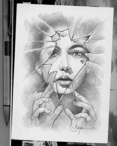 Art Drawings Beautiful, Dark Art Drawings, Realistic Drawings, Cool Drawings, Horse Drawings, Amazing Drawings, Animal Drawings, Girl Drawing Sketches, Art Drawings Sketches Simple