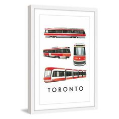 Marmont Hill Autobuses by Molly Rosner Framed Painting Print, Size: 20 inch x 30 inch, White