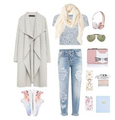 """Street style"" by joy-naasko-anzalone on Polyvore featuring NIKE, Ray-Ban, Dsquared2, Karl Lagerfeld, Accessorize, Zara, Adrianna Papell, Chloé, MANGO and Casetify"