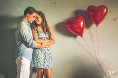 pre-wedding - balão de coração