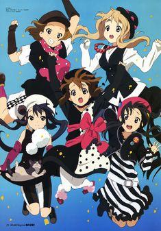 k-on Ritsu - Yui - Muji - Azusa - Mio K On Anime, Me Me Me Anime, Kawaii Anime, Manga Anime, Anime Chibi, Anime Stuff, Vaporwave, Otaku, Animes Online