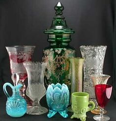 Antique Glassware | Antique and Collectible Glassware: Art Glass, Cut Glass, Elegant Glass ...