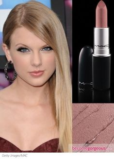 Want the perfect nude lip that doesn't give you dead-looking lips? Take Taylor's Swift's lead and go for MAC Hue.