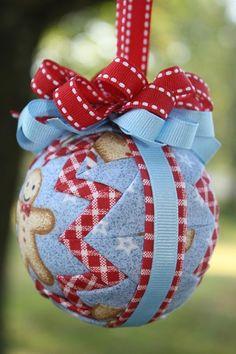 Cross stitched ornaments