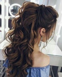 Love to try this half up half down hairstyle #halfuphalfdown #halfup #weddinghair #promhair