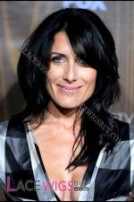 Lisa Edelstein Long Hairstyle Remy Human Hair  Wig