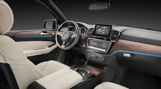 The interior of the Mercedes-Benz GLS offers S-Class standards.