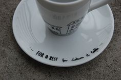 For.Rest for Lokum il Caffe. Hand-Painted espresso cup.