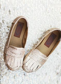 *NEW* Mirabella in Gold - so adorable for Ava! Penny loafers. Classic. In sparkles. Sparkles!