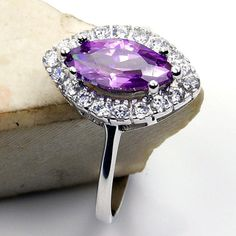 Purple Cubic Zirconia & .925 Sterling Silver by TheSilverPlaza