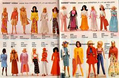 1970s Barbie booklet...I loved these Barbie booklets, I wanted all her clothes and told my parents how much I needed a new Barbie doll!