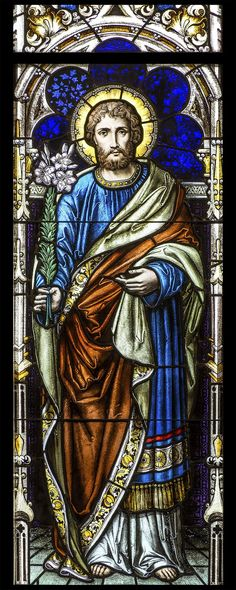 https://flic.kr/p/p3Fqjj   Saint Joseph   Guardian Angels Catholic Church, Orillia, Ontario, Canada. stained glass portrait Christian PINTEREST: @ecclesiastialsewing