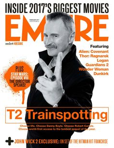 Danny Boyle discusses the casting of Leonardo Di Caprio instead of McGregor in the Beach for the first time. Robert Carlyle reveals his emotional reaction when he first read the script. Trainspotting Choose Life, Trainspotting 2, Guardians 2, Jonny Lee Miller, Stargate Universe, Ouat Cast, Movie Magazine, Robert Carlyle, Music Film