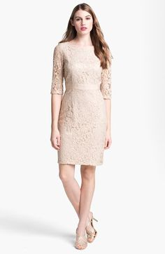 Eliza J Lace Sheath Dress available at #Nordstrom