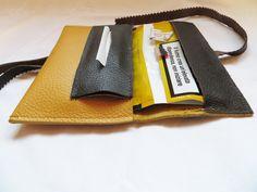 yellow handmade tobacco pouch
