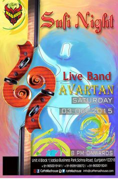 Caffe Mad House​ brings you Live Sufi Night with Avartan​ Band tonight. Come & enjoy the magic of Sufi Music & be taken on a Sufi ride while you sip on the lip smacking cocktails and food. #liveband #sufiband #sufimusic #livemusic #saturdaynight