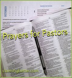 prayers for pastors during pastor appreciation month ... so, so good! imagine the impact in our churches and our communities if we committed to pray every day in October for our pastors and church staff.