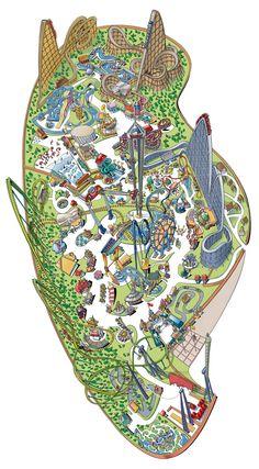 ValleyFair in MN amusement park Minnesota Theme Park Map, Disneyland Map, Valley Fair, Best Amusement Parks, Fair Rides, Planet Coaster, Prior Lake, White Bear Lake, Cedar Point