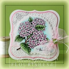 Hydrangea by Beate - Cards and Paper Crafts at Splitcoaststampers