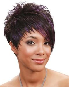 Bobbi Boss Premium Wig PURE EPIC Color Shown: Premium Synthetic Hair My Style. My Identity. All of Bobbi Boss premium synthetic wigs are crafted with premium quality synthetic fiber for natural-looking style and easy care. Funky Short Hair, Short Choppy Hair, Short Grey Hair, Short Hair Cuts For Women, Trendy Hair, Short Hair Undercut, Short Pixie Haircuts, Cute Hairstyles For Short Hair, Wig Hairstyles