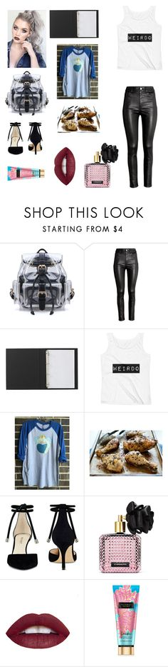"""""""Date"""" by tipsymermaid ❤ liked on Polyvore featuring H&M, Nine West and Victoria's Secret"""