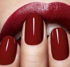 Make-up-Tipps roter Lippenstift und rote Nagellackfarbe - . - Make-up Tipps roter Lippenstift und rote Nagellackfarbe – # Nagellackfarbe - Red Nail Art, Red Nail Polish, Nagellack Trends, Dark Nails, Red Lipsticks, Dior Lipstick, Liquid Lipstick, Brown Lipstick, Beauty Nails