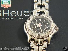 Stunning TAG Heuer S/EL Ladies watch Polished st. steel with a black dial WG1318