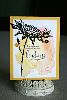 Welcome to the Poppystamps Blog. Today I have a card for you that makes me happy! Bright Color and soft color along with the bold black Sunflower diecut, makes a stunning card! i first stamped the Memory Box co sentiment onto Watercolor paper using a hybrid black ink, zapped it with my heat gun. Then i wet the paper and started dropping color onto the wet area's and let the paint work. once my desired colors were there I added the black die cut of the sunflower. one of my Favorite dies from…