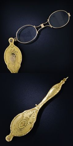 Victorian period covered gold lorgnette