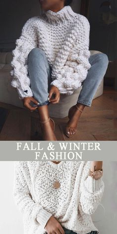 Fall and winter sweater for women beautiful printed and comfy material you will love it pure color and pattern style sweaters you can option. Fashion Sweater For Women Mode Outfits, Winter Outfits, Winter Sweaters, Sweaters For Women, Pullover Mode, Latest Fashion For Women, Womens Fashion, Look Fashion, White Fashion