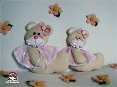 Sonhos de Mel 'ੴ - Crafts em feltro e tecido: °°Ursinhas em feltro...
