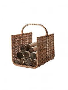 Firewood Basket, Firewood Holder, Firewood Storage, Storage Baskets, Wicker Baskets With Handles, Bamboo Basket, Log Holder, Fireplace Accessories, Storage Places
