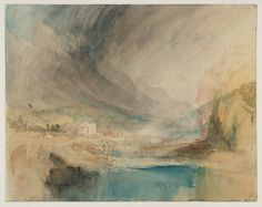 'Storm over the Mountains', Joseph Mallord William Turner, Joseph Mallord William Turner, Covent Garden, Landscape Art, Landscape Paintings, Art Romantique, Turner Watercolors, Turner Painting, Caspar David Friedrich, Art Abstrait