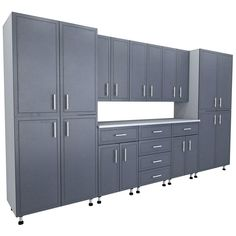 80.5 in. x 144 in. x 21 in. ProGarage Premium Storage Systems in Gray (9-Pieces)
