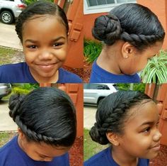 Baby Girl Hairstyles, Back To School Hairstyles, Cute Hairstyles, Braided Hairstyles, Black Hairstyles, Black Little Girl Hairstyles, Quiff Hairstyles, 1950s Hairstyles, Bun Hairstyle