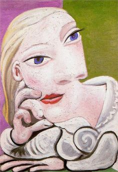 """ArtG204. """"Marie-Therese leaning"""" by Pablo Picasso (1939) - I feel a lot like this today"""