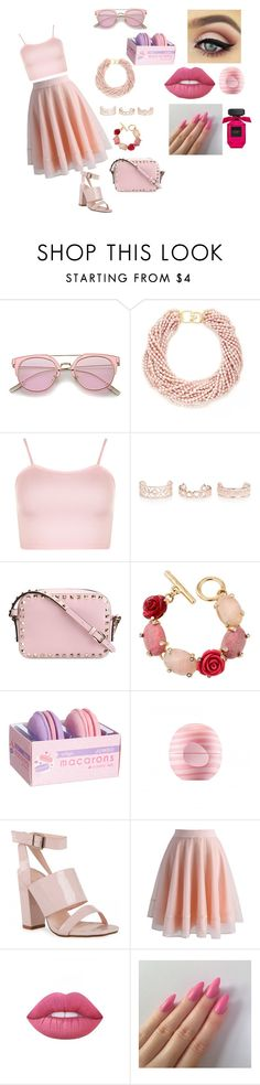 """#KKT#Chanel Oberlin#2"" by amina2001976896 ❤ liked on Polyvore featuring beauty, Kenneth Jay Lane, WearAll, New Look, Valentino, Oscar de la Renta, Eos, Chicwish and Lime Crime"