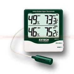 """http://handinstrument.se/luftfuktighetsmatare-r688/hygro-termometer-display-med-stora-siffror-53-445713-r696  Hygro-termometer, display Med Stora siffror  Max / min med """"reset""""-funktion  Luftfuktighet: 10 till 99% RH  Temperatur: 14 till 140 Garanti: 2 År"""