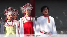 the Chinese singing Russian song - Wonderful! Meanwhile In Russia, Singing, Sari, Crown, Songs, Music, Chinese, Youtube, Fashion
