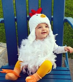 This cute fuzzy chicken hat has been hand crocheted from ultra soft acrylic yarn. Comes with a red comb on the top and cute little beak. Great photo prop or Halloween Costume for your little one.