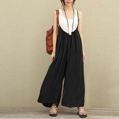 644254f4394 2018 ZANZEA Women Overalls Wide Leg Pants Vocation Dungarees Casual Cotton  Linen Jumpsuits Long Trousers Plus Size S-5XL Rompers