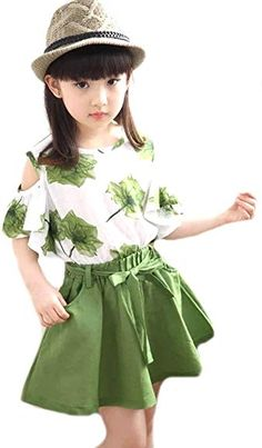 TM Girls Maple Leaves Skirt and Short Dress Set blue African Dresses For Kids, Kids Outfits Girls, Little Girl Dresses, Girl Outfits, Girls Dresses, Baby Frocks Designs, Kids Frocks Design, Girls Fashion Clothes, Kids Fashion