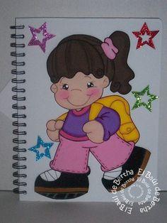 CUADERNOS NIÑOS ESCOLARES       Cuadernos decorados en blanco con niños   escolares   Todos los cuadernos son de raya, si desean cuadernos...