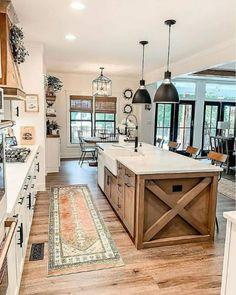 Modern Farmhouse Design, Modern Farmhouse Kitchens, Farmhouse Homes, Home Kitchens, Rustic Farmhouse, Farmhouse Ideas, Farmhouse Style, Kitchen Modern, Farmhouse Interior