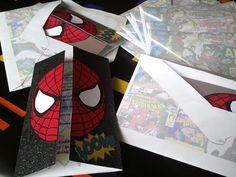 spiderman handmade envelopes
