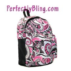 PAISLEY AND  FLOWER  BACKPACK $19.99