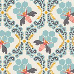 Art Gallery Sweet as Honey Bee Sweet by CedarandNeedleFabric