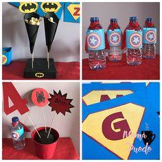 Decoración batman, capitán américa, spiderman... Spiderman, Batman, Ideas Para, 4th Anniversary, Afternoon Snacks, Spider Man, Amazing Spiderman