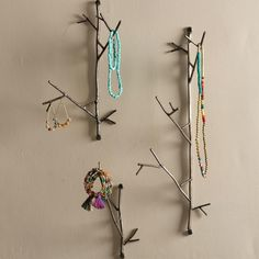 Twigs made of steel to hold necklaces, bracelets, earrings, and other…